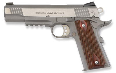 "COLT SERIES 80 9MM 5"" Stainless Rail Gun"