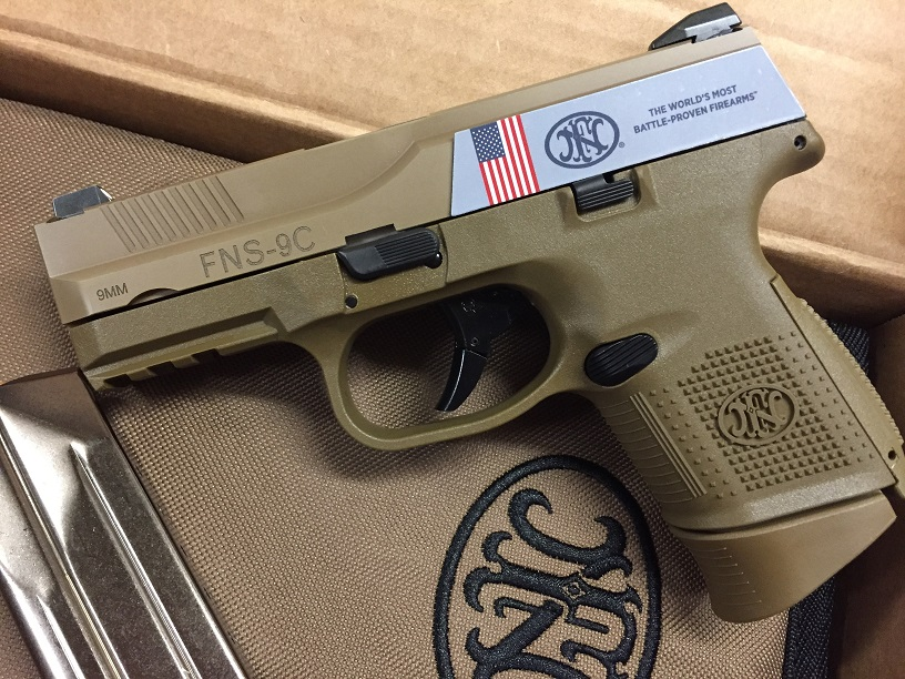 FN FNS-9C 9MM 1-12RD 1-17RD FDE NMS