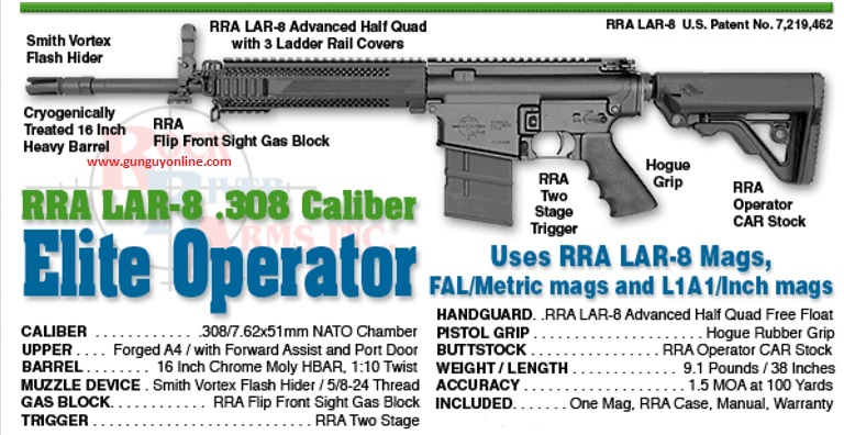 Rock River Arms Elite Operator 308 LAR 8