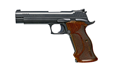 "Sig Sauer P210 Target 9mm 5"" Steel Frame Walnut Grips 2 Mags"