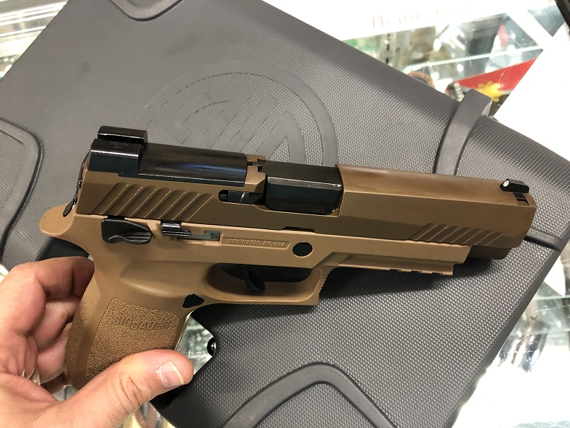 "SIG P320F M17 MS 4.7"" 9MM 17RD COYOTE"
