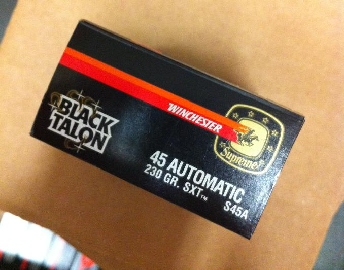 45 ACP Black Talon 230 grain