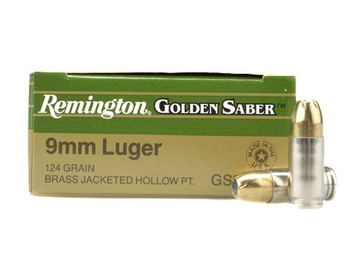 9mm Remington Golden Saber™ HPJ 124 grain JHP