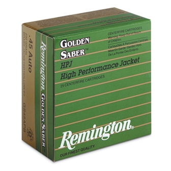 "380 ACP Remington Golden Saberâ""¢ HPJ 102 grain"
