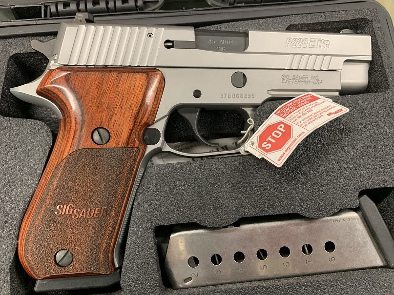 Sig Sauer P220 Elite Stainless 45 USED