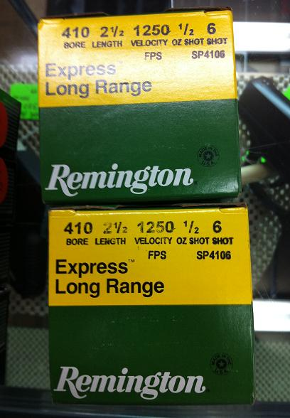 Remington .410 gauge  Express Long Range #6