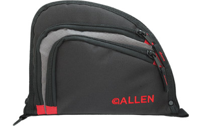 ALLEN AUTO-FIT HANDGUN CASE BLK/RED