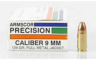 ARMSCOR 9MM 124GR FMJ 50/1000