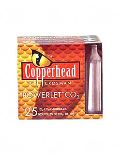 CROSMAN POWERLET CO2 CARTRIDGES 25PK