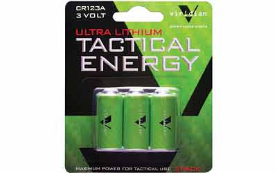 VIRIDIAN CR123A LITH BATTERY 3PK