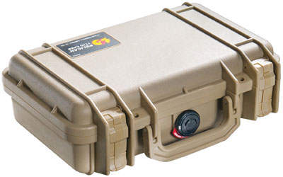 PELICAN CASE 1170 CUSTOM HANDGUN TAN