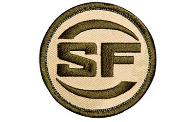 SUREFIRE PATCH SF LOGO OD/TAN