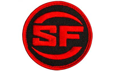 SUREFIRE PATCH SF LOGO RED/BLK