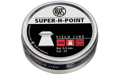 RWS PLTS .22 SUPER H POINT 250/TIN