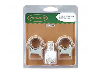 "WEAVER TOP MOUNT RNGS 1"" HIGH SS"