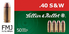 40 S&W Sellier & Bellot 180 grain FMJ