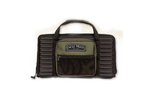 Uncle Mike's Deluxe Pistoltector Pistol Case Black Soft 14.5""